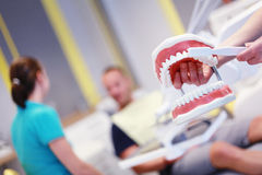 Der Zahnarzt Stockbild