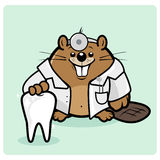 Der Zahnarzt der Biberkinder stock abbildung