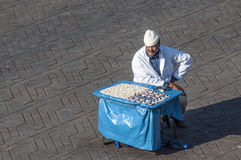 Der Zahnmann von Marrakesch Stockbild