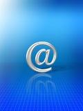 An der Zeichen-eMail alias Lizenzfreies Stockbild