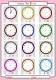 Der Zeit sagen, was die Zeit ist, lizenzfreie stockbilder