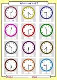 Der Zeit sagen, was die Zeit ist, lizenzfreie stockfotos