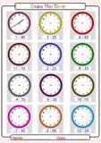 Der Zeit sagend, zeichnen Sie die Zeit Stockbild