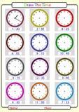 Der Zeit sagend, zeichnen Sie die Zeit Stockbilder