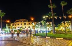 Der zentrale Platz von EL Kantaoui Stockbild