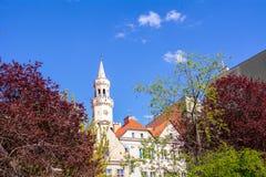 Der zentrale Stadtteil von Opole in Polen Lizenzfreies Stockbild