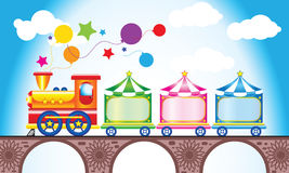 Der Zug der mehrfarbige Kinder vektor abbildung