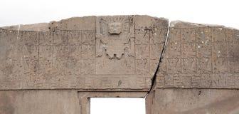 Der Zugang des Sun, Tiwanaku, Bolivien Stockbilder