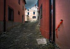 Der Zugang zur Stadt von Porec kroatien lizenzfreie stockbilder