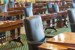 Der Zustand von Texas Leather Chair Lizenzfreies Stockfoto