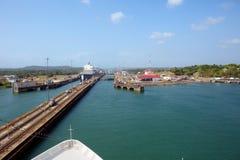 Der zweite Zugang des Panamakanals vom Pazifischen Ozean Stockfotografie