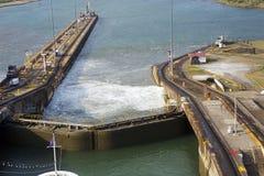 Der zweite Zugang des Panamakanals vom Pazifischen Ozean Stockbild
