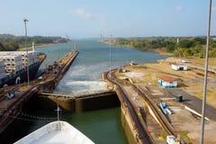 Der zweite Zugang des Panamakanals vom Pazifischen Ozean Lizenzfreie Stockfotografie