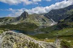 Der Zwilling, die sieben Rila Seen, Rila-Berg Lizenzfreies Stockbild