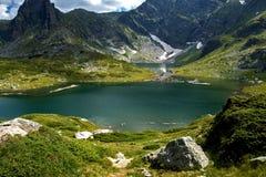 Der Zwilling, die sieben Rila Seen, Rila-Berg Stockbild
