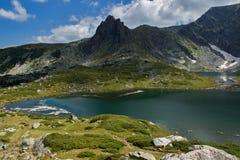 Der Zwilling, die sieben Rila Seen, Rila-Berg Stockfotografie