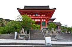 dera前门kiyomizu寺庙 图库摄影
