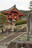 dera网关日本kiyomizu京都寺庙 库存照片