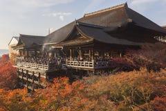 dera遗产日本kiyomizu京都列出了寺庙科教文组织世界 免版税库存图片