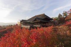 dera遗产日本kiyomizu京都列出了寺庙科教文组织世界 库存照片