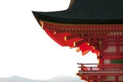 dera kyomizu krajobrazu pagody dachu świątynia Obraz Stock