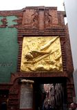 Dera Lichtbringer - wejście Böttcherstraße w Bremen, Niemcy Obrazy Royalty Free