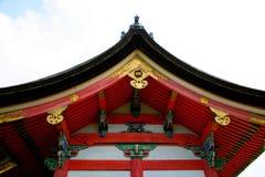 dera okapów Japan kiyomizu s świątynia Obraz Royalty Free