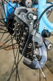 Deragliatore rotto della parte posteriore della bicicletta Fotografia Stock