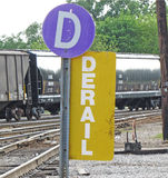 Derail railroad sign Royalty Free Stock Photography