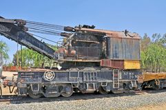 Southern Pacific Wreck Recovery Crane royalty free stock photography