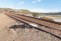 Derailer на siding на станции Stompdrift Стоковые Изображения