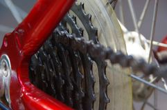Derailleur da bicicleta fotografia de stock royalty free