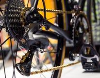 Derailleur posterior de la bicicleta imagen de archivo libre de regalías