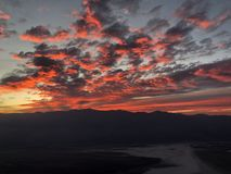 Deramatic evening sky over Death Valley from Dantes View royalty free stock photos