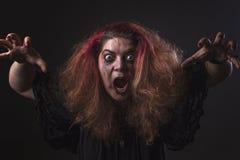 Deranged woman screaming Stock Photos