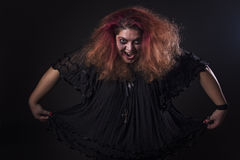 Deranged woman screaming Royalty Free Stock Photography