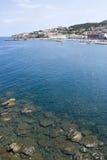 Deras kust av Frankrike, Banyul-Sur Mer Arkivbild