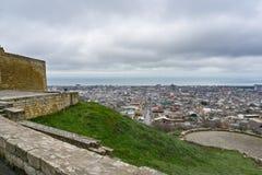 Derbent-Ansicht vom Hügel lizenzfreies stockbild