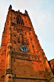 Derby Cathedral Clock Tower photo libre de droits