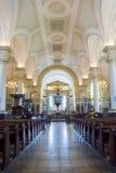 Derby Cathedral Nave HDR lodlinjefotografi Royaltyfri Fotografi