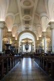 Derby Cathedral Nave lodlinjefotografi Arkivfoton