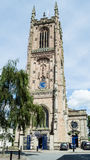 Derby Cathedral Tower Facade stock foto