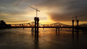 Derby City Sunset. Sunset over Louisville royalty free stock photography
