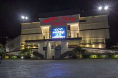 Derby Club Poker. At night, in St. Petersburg, Florida stock photography