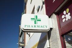 Derby, Derbyshire, UK: October 2018: Pharmacy sign