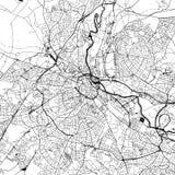 Derby Downtown Vector Map stock illustratie