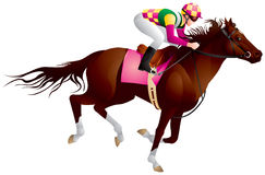 Derby, Equestrian sport horse and rider 4. Derby, Equestrian sport horse and rider in vector variant 4, Thoroughbred horse, gambling, The Sport of Kings Stock Photos