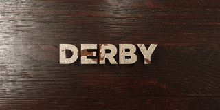 Derby - grungy wooden headline on Maple  - 3D rendered royalty free stock image. This image can be used for an online website banner ad or a print postcard Stock Image
