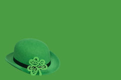 Derby hat on green. St. Patrick's Day background Stock Photography