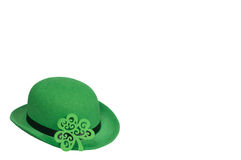 Derby hat on white. St. Patrick's Day background Stock Images